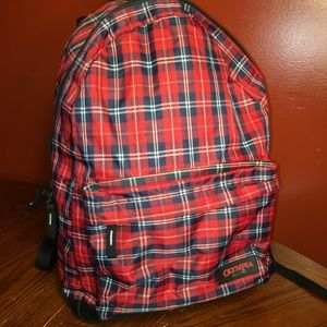 Olympia Bravo Red Plaid Backpack